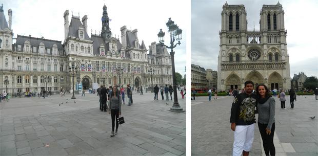 Hotel De Ville e Catedral de Notre Dame