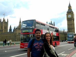 Big Ben, parlamento e ônibus vermelho: isso é Londres!