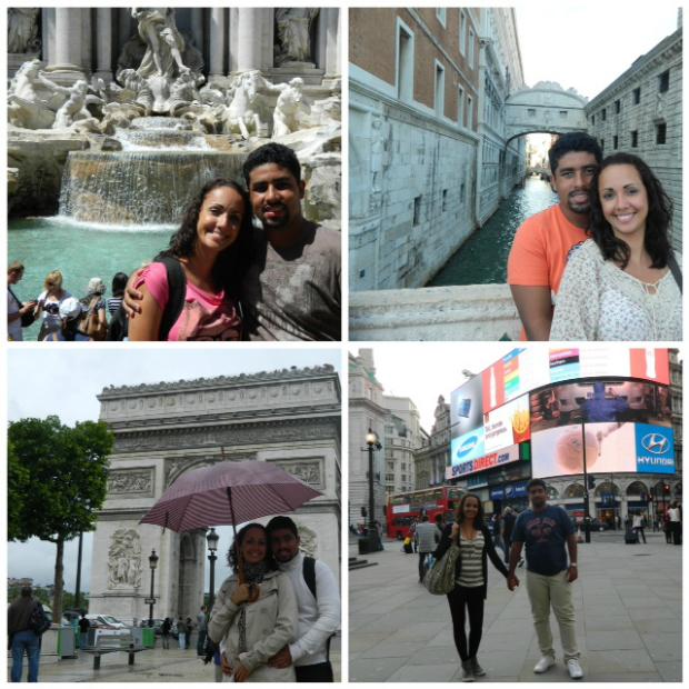 Roma, Veneza, Paris e Londres. E ainda faltaram o Vaticano, Versalhes e Manchester...
