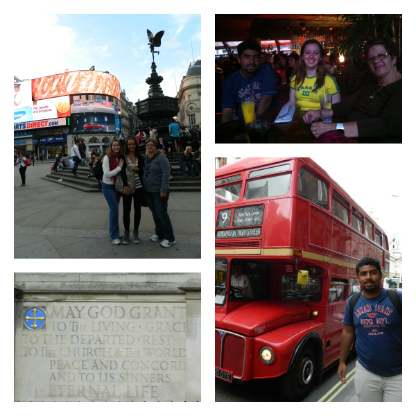 Picadilly, Camden, Ônibus de dois andares e uma frase muito legal da Abadia...
