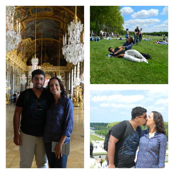 Palácio e Jardins de Versalhes... Muito legal! (Montagem: Thiago Barros)
