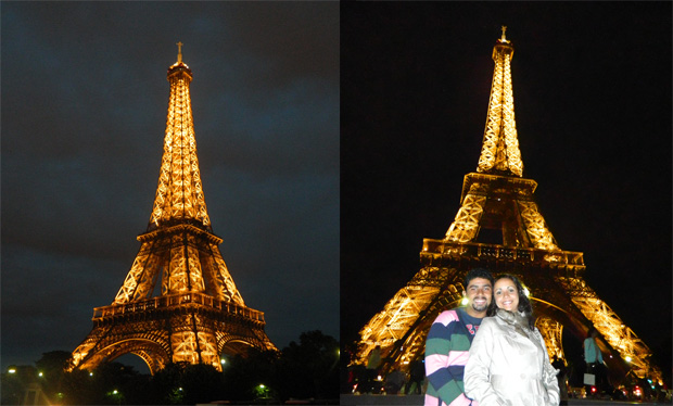 Torre Eiffel de longe e de perto :)