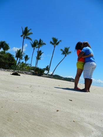 "Momento ""Só love só love"" na Quarta Praia"