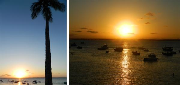 Vista linda do pôr-do-sol no Hotel Portaló