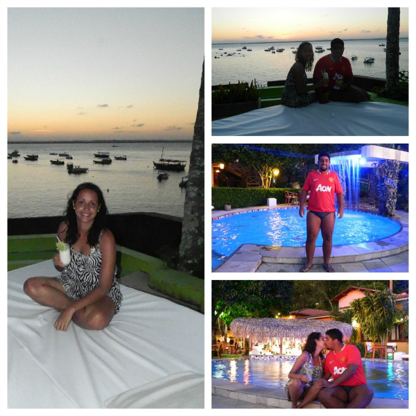 Início de noite na piscina - Hotel Portaló