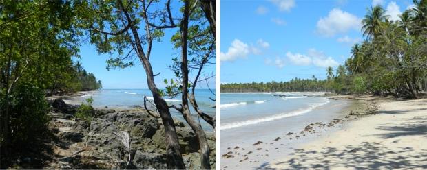Descida da lancha e vista da Praia de Cueira (Boipeba)