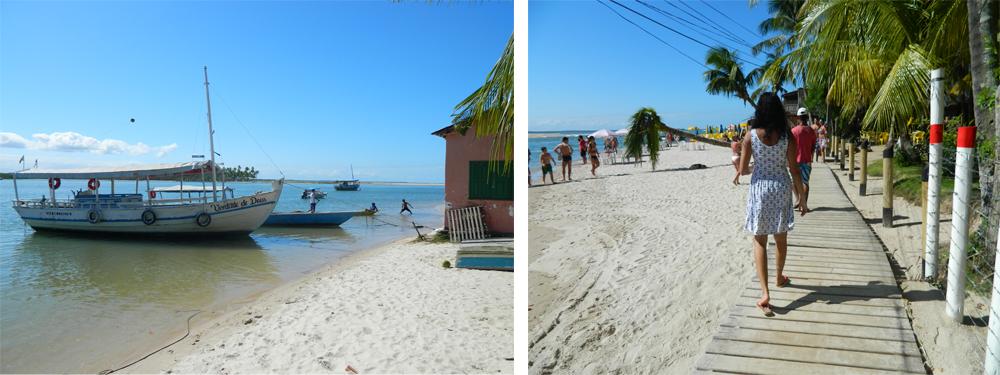 Chegando à Praia da Boca da Barra (Boipeba)