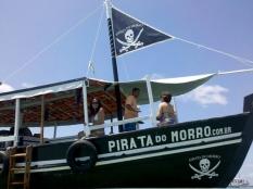 Na embarcação Pirata do Morro, em Morro de São Paulo.