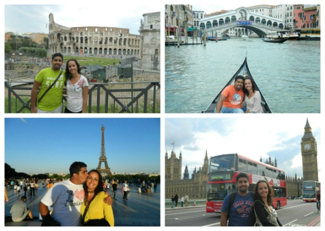 Roma, Veneza, Paris e Londres