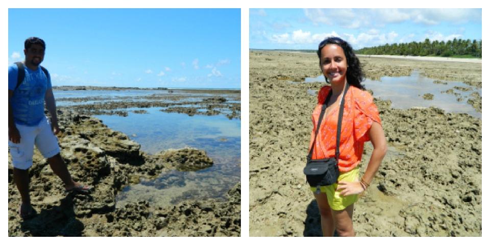 Piscinas naturais na Quarta Praia