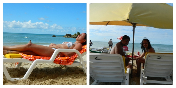 Paradinha pra relaxar na Segunda Praia
