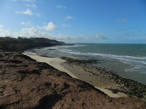 Praia do Amor tem formato de coração - Pipa - Natal