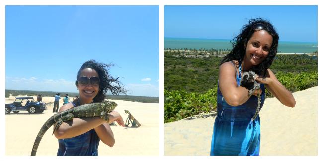 Iguana e mico perto da Lagoa de Pitangui - Natal