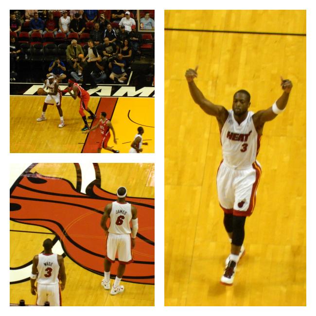 Eu vi Wade e LeBron ao vivo!