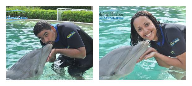 Beijando os golfinhos - Miami Seaquarium