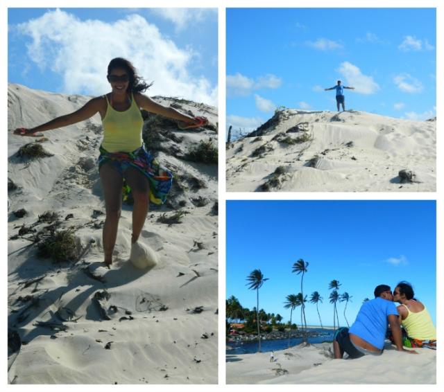 Brincando nas dunas de Punaú