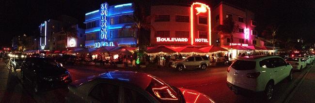 O charme de Miami Beach à noite