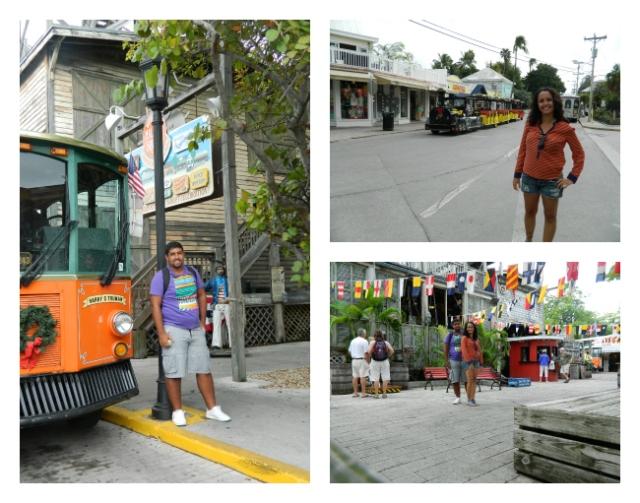 Ônibus turísticos em formato de trens que circulam em Key West