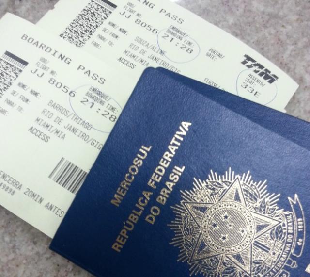 Passaporte pronto para o embarque :)