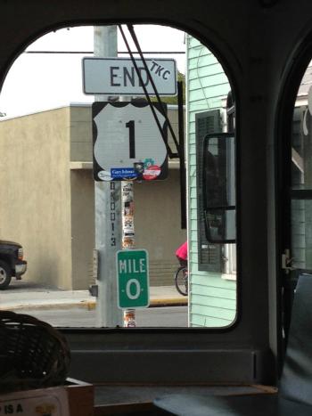 US1 Mile 0 - Key West
