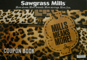 Coupon Book Sawgrass Mills