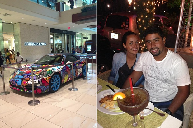 Porsche do Romero Britto no Aventura Mall e Drinks 2 For 1 em Miami Beach