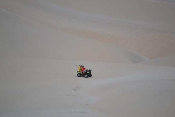 Volta do skibunda de quadriciclo