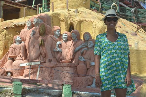 Santa Ceia representada nas esculturas do Refúgio Dourado - Majorlândia - CE