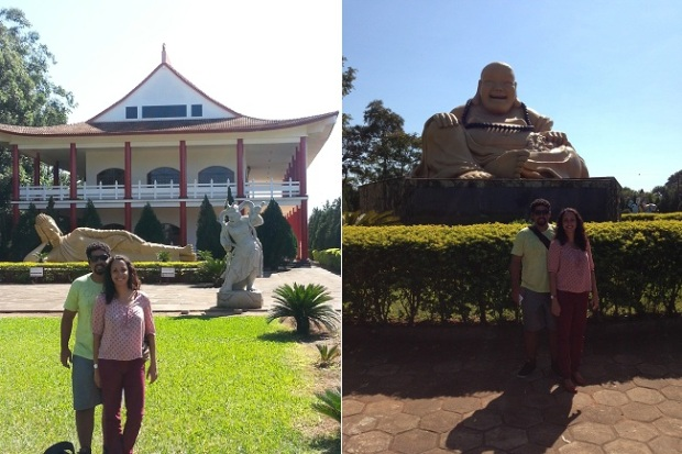 Templo Budista tem estátuas e arquitetura muito interessantes