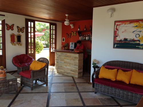 Parte da recepção do Hotel Villa Terra Viva - Jericoacoara