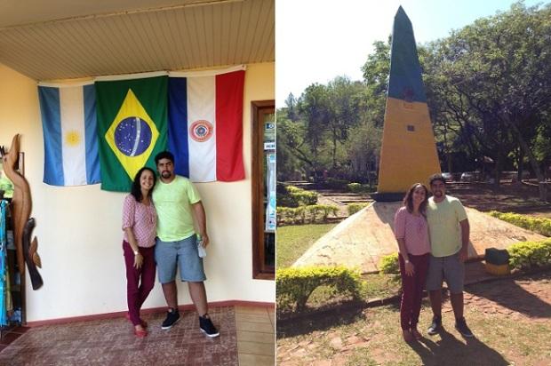 Marco brasileiro tem lojinha com bandeiras dos países
