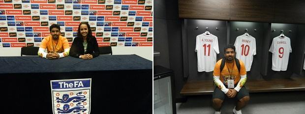 Sala de Imprensa e Vestiário de Wembley
