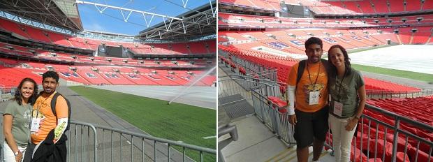 Estádio é muito bonito por dentro