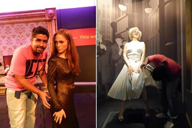 Olha eu me fazendo com J-Lo e Marylin