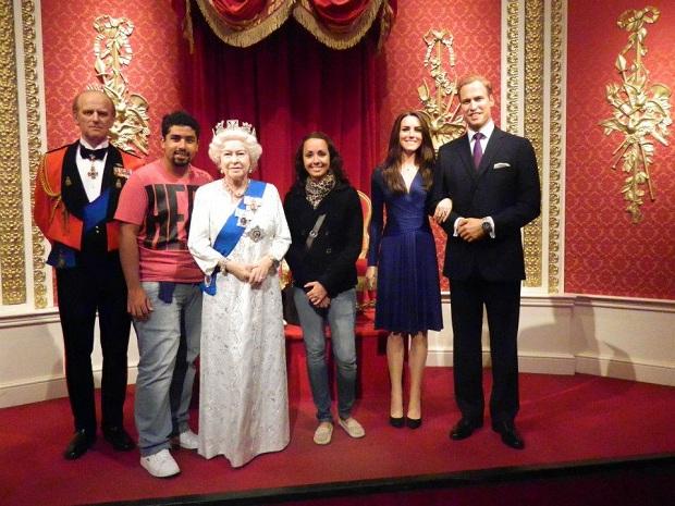 Família Real veio nos receber no museu