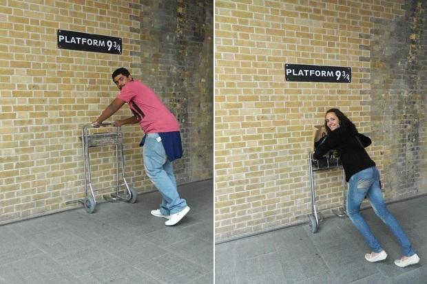 Embarcamos no Expresso de Hogwarts pra sair de Londres
