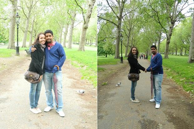 Passeio no Hyde Park depois do Palácio. Estava pouco frio!