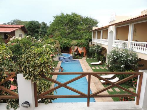Vista de cima do Café da manhã -  do Hotel Villa Terra Viva - Jericoacoara