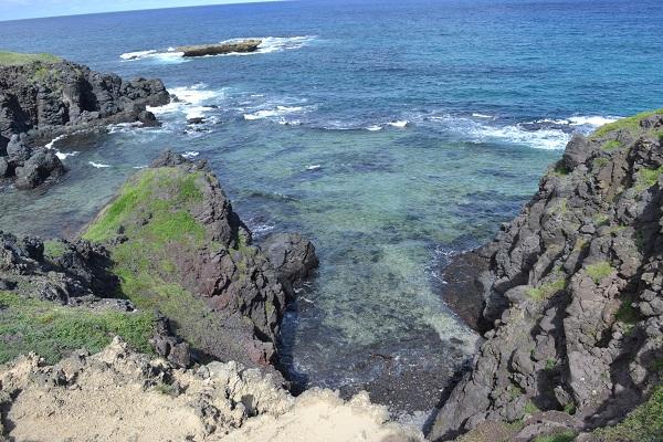 Mar lindo no Buraco da Raquel