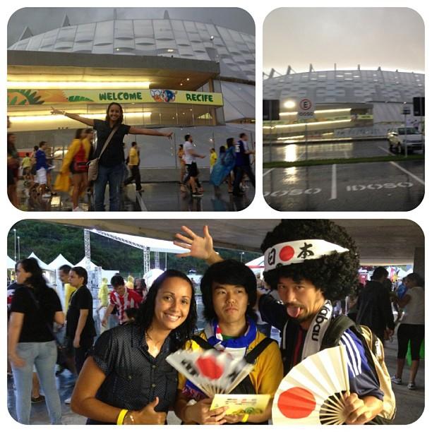 Recife teve chuva, estádio lindo e muitos japoneses