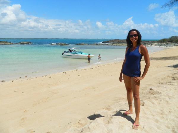 Água cristalina na Ilha de Santo Aleixo