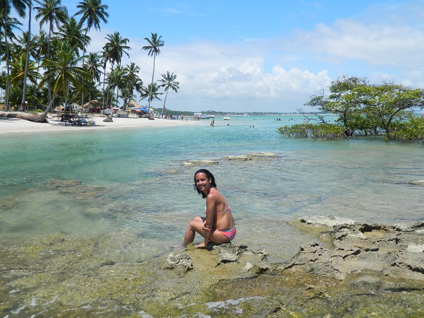 Aproveitando os minutinhos de sol - Praia dos Carneiros