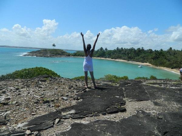 Vista lá de cima, do outro lado da Ilha de Santo Aleixo