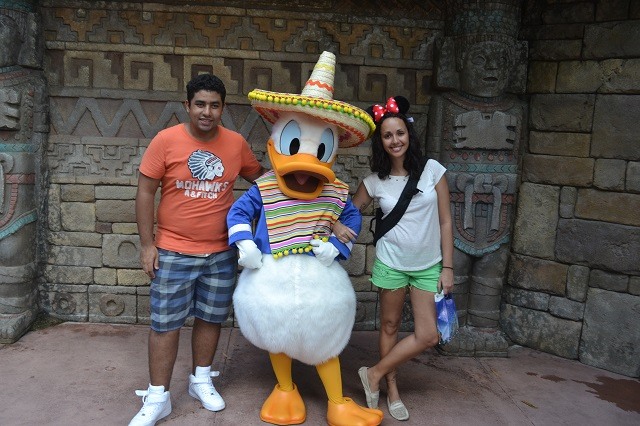 México com Pato Donald