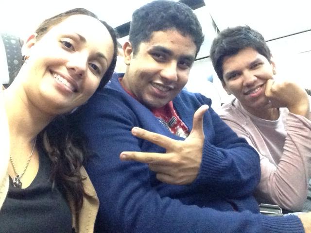 Line, Eu e Victor no avião
