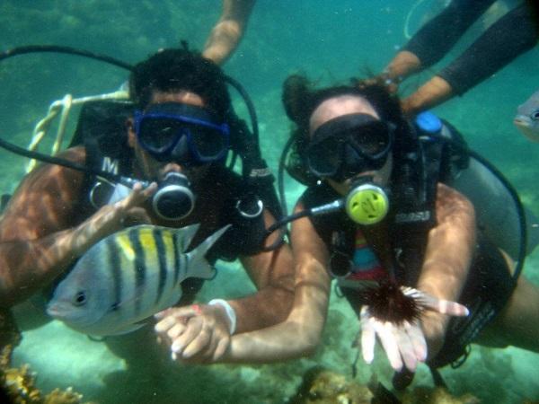 Mergulho de cilindro em Maragogi
