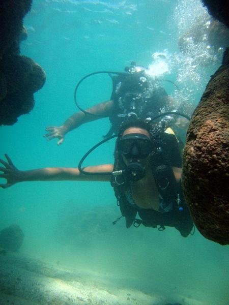 Mergulhando de cilindro em Porto de Galinhas - Pernambuco