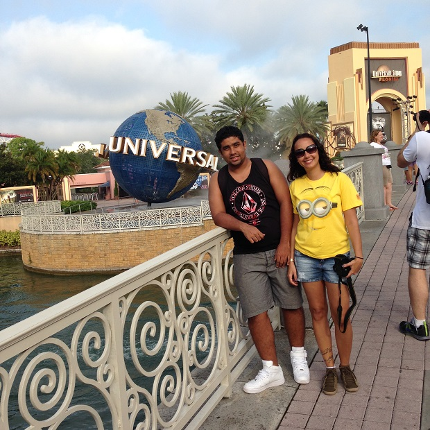 Famoso visual da entrada do Universal Studios