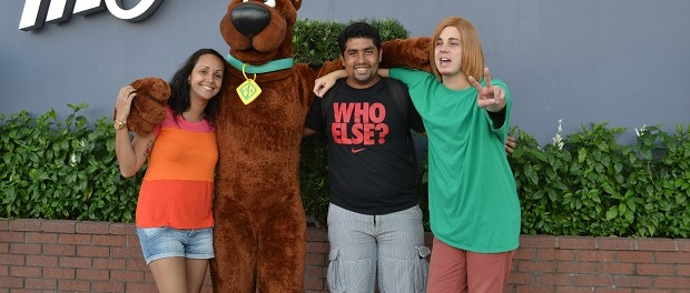 Mas o destaque do dia foi o Scooby