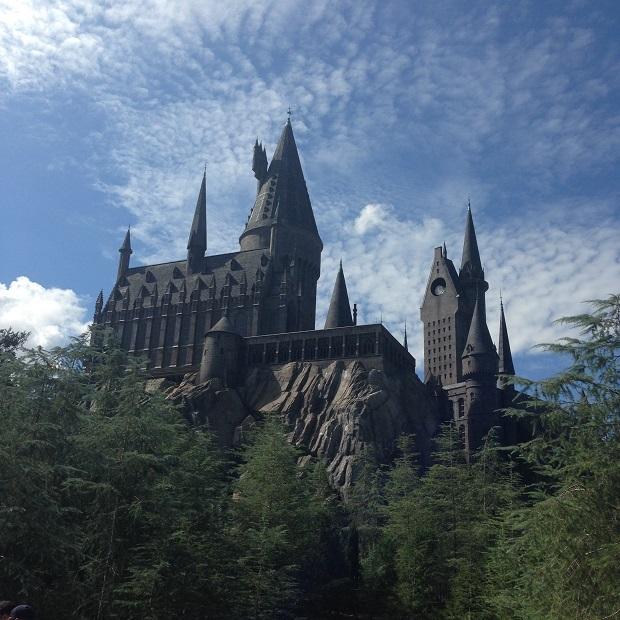 O castelo de Hogwarts é incrível